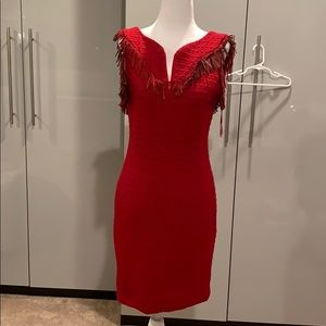 Chanel red dress